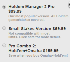 Holdem Manager pricing