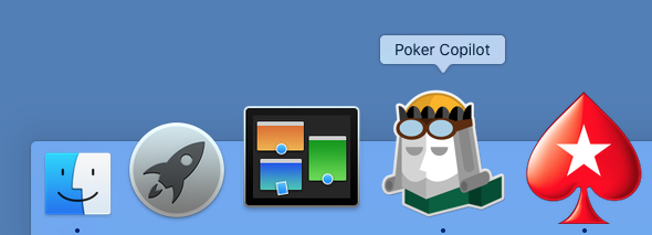 Poker Copilot is OS X Dock